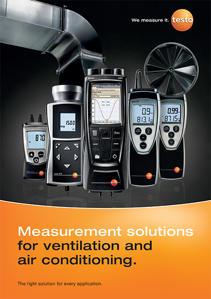 Testo Product Publications Brochure Ventilation Air Conditioning