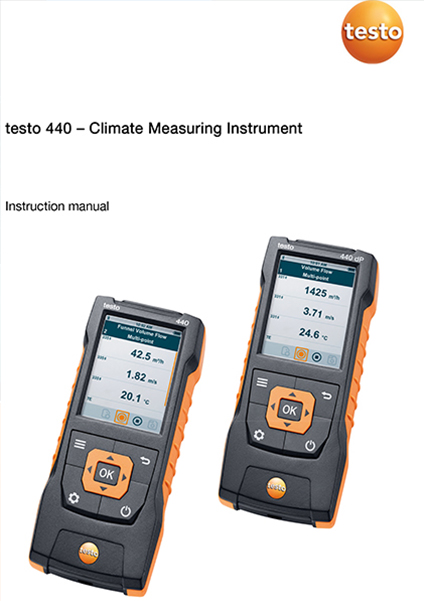 Instruction manual for Testo 440